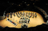 The Colorado Symphony Orchestra rehearses on April 24 at the Boettcher Concert Hall at the Denver Center for the Performing Arts in Denver, Colo. The venue got a $17 million makeover and needed to close for a whole year.