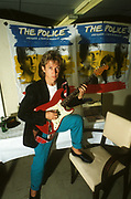 Andy Summers  backstage  The Police USA tour LA 1980