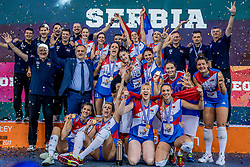 01-10-2017 AZE: Final CEV European Volleyball Nederland - Servie, Baku<br /> Nederland verliest opnieuw de finale op een EK. Servië was met 3-1 te sterk / Team Servië pakt de gouden medaille