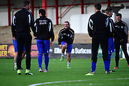 South Park players enjoy the warm up during the Ryman League - Div One South match between Carshalton Athletic and South Park FC at War Memorial Sports Ground, Carshalton, United Kingdom on 19 November 2016. Photo by Jon Bromley.