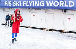 19.01.2018, Heini Klopfer Skiflugschanze, Oberstdorf, GER, FIS Skiflug Weltmeisterschaft, Einzelbewerb, im Bild Michael Hayboeck (AUT) // Michael Hayboeck of Austria during individual competition of the FIS Ski Flying World Championships at the Heini-Klopfer Skiflying Hill in Oberstdorf, Germany on 2018/01/19. EXPA Pictures © 2018, PhotoCredit: EXPA/ JFK