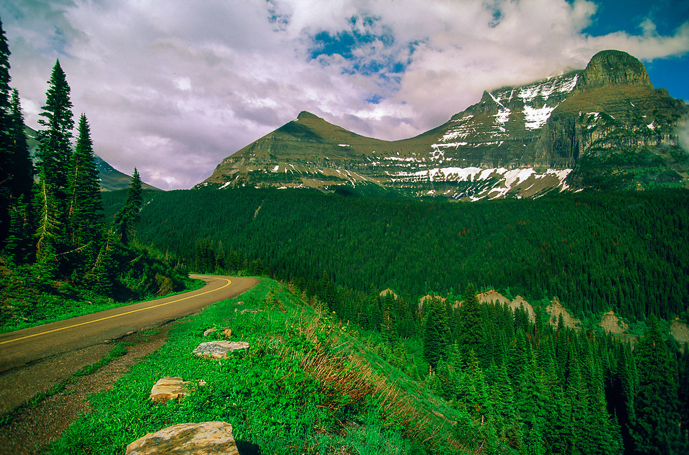 Along the Going to the Sun Road in Glacier National Park, Montana USA