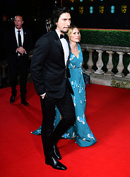 Adam Driver and Joanne Tucker attending the 73rd British Academy Film Awards held at the Royal Albert Hall, London.