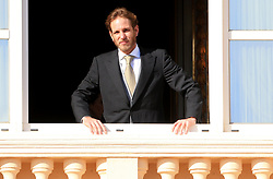 Andrea Casiraghi The royal family of Monaco posing at the balcony of the Grimaldi castle for the National Day festivities on November 19th 2019.