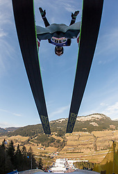 11.01.2014, Kulm, Bad Mitterndorf, AUT, FIS Ski Flug Weltcup, Probedurchgang, im Bild Gregor Deschwanden (SUI) // Gregor Deschwanden (SUI) during the Trial jump of FIS Ski Flying World Cup at the Kulm, Bad Mitterndorf, <br /> Austria on 2014/01/11, EXPA Pictures © 2014, PhotoCredit: EXPA/ JFK