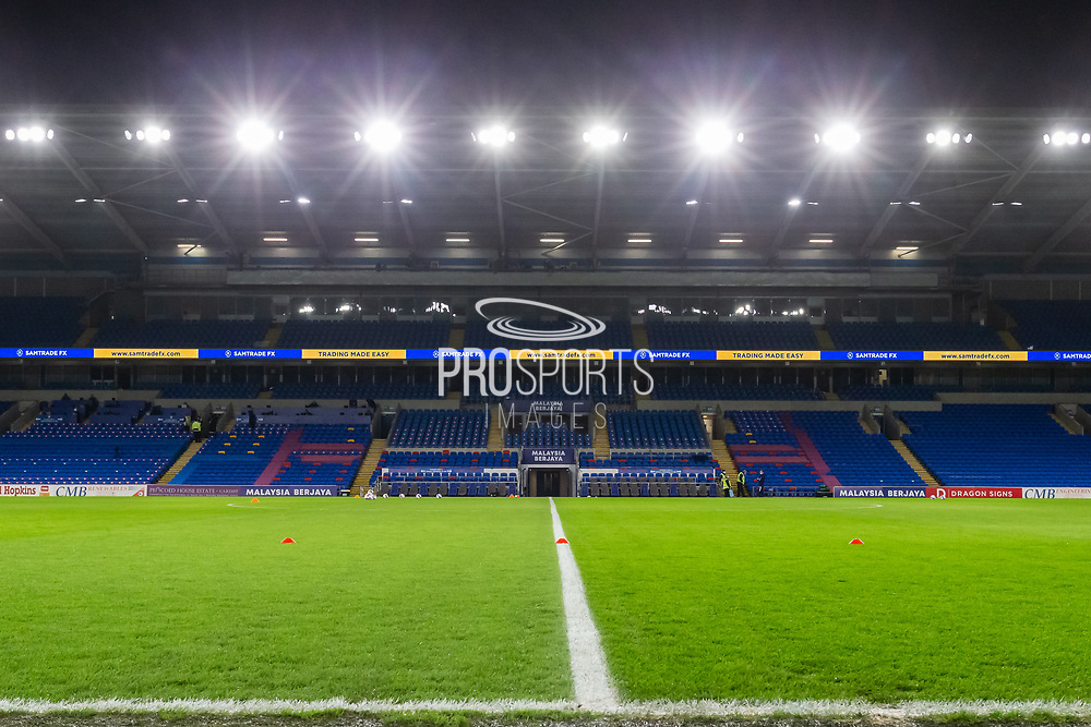 A general view of Cardiff City Stadium, home of Cardiff City FC before the EFL Sky Bet Championship match between Cardiff City and Birmingham City at the Cardiff City Stadium, Cardiff, Wales on 16 December 2020.