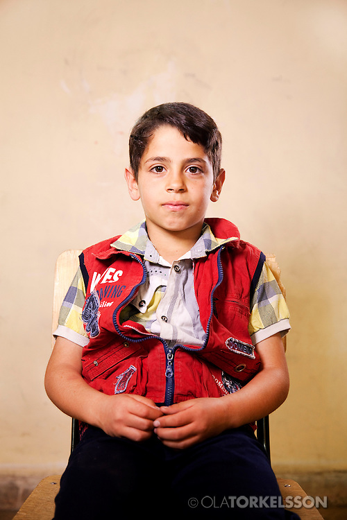 Ahmed (not his real name) is 11 years old and comes from the Damascus area.<br /> Photos Ola Torkelsson <br /> Copyright Ola Torkelsson © 2013