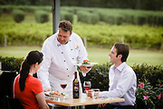 Outdoor dining, Adina Vineyard, Hunter Valley, NSW, Australia