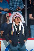 REGINA, SK - MAY 25: Saskatchewan First Nation Chief at the Brandt Centre on May 25, 2018 in Regina, Canada. (Photo by Marissa Baecker/CHL Images)