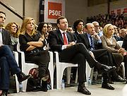 Meting of the opening of the election campaign of the Spanish Socialist Party (PSOE).Alfredo Perez Rubalcaba, Tomas Gomez and Elena Valenciano.