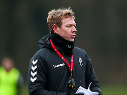Head Coach Dean Holden of Bristol City during a training session ahead of the FA Cup game with Portsmouth - Rogan/JMP - 07/01/2021 - Failand - Bristol, England.
