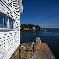 North America, Canada, Nova Scotia, Guysborough County. Little Harbour dock of Nova Scotia, near Tor Bay.