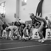 at the 2009 USA Masters Indoor Track and Field Championships at the Prince George's Sports and Learning Complex in Landover Maryland..Tom Patsalis, right