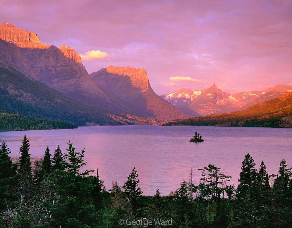 Saint Mary Lake and Goose Island, Glacier National Park, Montana