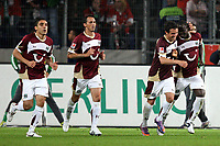 Fotball<br /> Tyskland<br /> Foto: imago/Digitalsport<br /> NORWAY ONLY<br /> <br /> 21.09.2010<br /> <br /> Hannover 96 - SV Werder Bremen / Jubel Hannover zum Tor zum 2:1 / Mohammed Abdellaoue / Jubel / Freude / Emotion / Hoch nach Tor zum 2:1<br /> <br /> BILDET INNGÅR IKKE I FASTAVTALENE