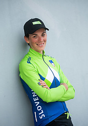 Eugenia Bujak of Slovenia posing after Women Time Trial at UCI Road World Championship 2020, on September 24, 2020 in Imola, Italy. Photo by Vid Ponikvar / Sportida