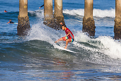 Frederico Morais (PRT) is eliminated from the 2018 VANS US Open of Surfing after placing fourth in Heat 9 of Round 2 at Huntington Beach, California, USA.