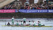 London. UNITED KINGDOM.  Cambridge celebartae winning the 162nd BNY Mellon Boat Race  on the Championship Course, River Thames, Putney/Mortlake.  Sunday  27/03/2016    [Mandatory Credit. Intersport Images]<br /> <br /> Cambridge University Boat Club {CUBC} v Oxford University Boat Club {OUBC}<br /> <br /> Cambridge, Crew, Bow: Felix Newman – 83.2kg, 2: Ali Abbasi – 88.4kg, 3: Charles Fisher – 91.8kg, 4: Clemens Auersperg – 90.4kg, 5: Luke Juckett – 82.0kg, 6: Henry Hoffstot –  92.6kg, 7: Ben Ruble – 83.4kg, Stroke: Lance Tredell – 94.2kg, Cox: Ian Middleton – 54.0kg