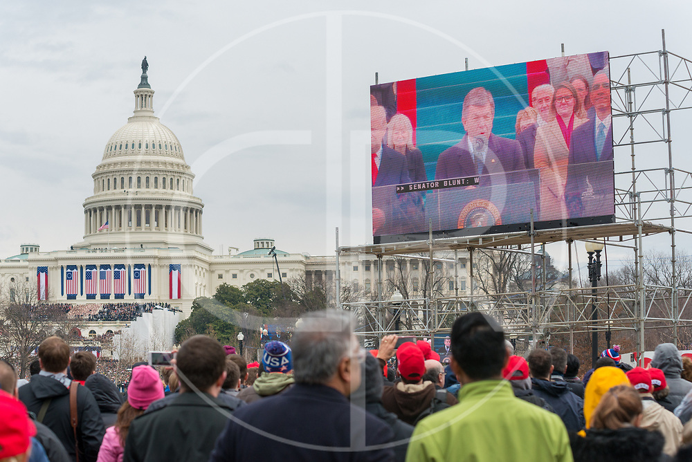 Washington DC, United States - Missouri Senator and Congressional Inaugural Committee Chairman Roy Blunt speaks during the 2017 inauguration ceremony for Donald J. Trump.