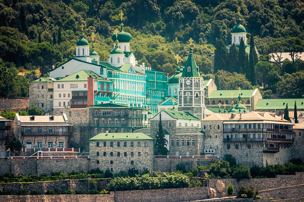 Russian Saint Panteleimon Monastery in Monastic Republic of Mount Athos, Greece