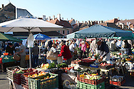 Farmers fruit and vegetable market, Gyor ( Gy?r ) Hungary .<br /> <br /> Visit our HUNGARY HISTORIC PLACES PHOTO COLLECTIONS for more photos to download or buy as wall art prints https://funkystock.photoshelter.com/gallery-collection/Pictures-Images-of-Hungary-Photos-of-Hungarian-Historic-Landmark-Sites/C0000Te8AnPgxjRg