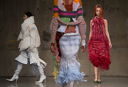 Models on the catwalk during the ASAI Fashion East Autumn/Winter 2017 London Fashion Week show at the Topshop Show Space, Tate Modern, London.