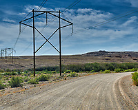 Power Lines Crossing the Road to Crystal Geyser Near Green River, Utah. Image taken with a Nikon D300 camera and 18-200 mm VR lens (ISO 200, 32 mm, f/10, 1/400 sec).