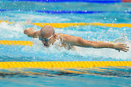Hungry's Laszlo Cseh heading for gold in the 100m Butterfly during Day 13 of the 2016 LEN European Aquatics Championship Swimming Finals at the London Aquatics Centre, London, United Kingdom on 21 May 2016. Photo by Martin Cole.