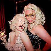 NLD/Amsterdam/20111001 - Verjaardag Mayday 2011, Marilyn Monroe lookalike en Mayday