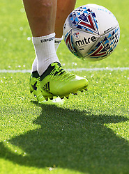 A player warming up during the Sky Bet Championship match at the Stadium of Light, Sunderland