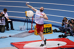 07.03.2014, Ergo Arena, Sopot, POL, IAAF, Leichtathletik Indoor WM, Sopot 2014, Tag 1, im Bild TOMASZ MAJEWSKI // TOMASZ MAJEWSKI during day one of IAAF World Indoor Championships Sopot 2014 at the Ergo Arena in Sopot, Poland on 2014/03/07. EXPA Pictures © 2014, PhotoCredit: EXPA/ Newspix/ Piotr Matusewicz<br /> <br /> *****ATTENTION - for AUT, SLO, CRO, SRB, BIH, MAZ, TUR, SUI, SWE only*****