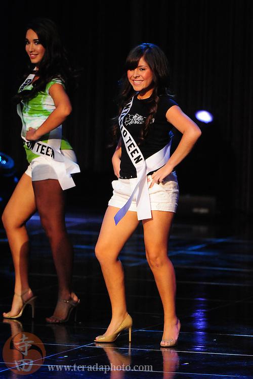 """November 22, 2009; Rancho Mirage, CA, USA; Miss Ontario Teen USA Sade Delgado during the Miss California Teen USA 2010 Pageant at """"The Show"""" at the Agua Caliente Resort & Spa. Mandatory Credit: Kyle Terada-Terada Photo"""