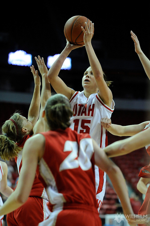 13 MAR 2009:  University of New Mexico takes on University of Utah during the Mountain West Conference Women's Basketball Tournament held at the Thomas & Mack Center in Las Vegas, NV.  Brett Wilhelm/NCAA Photos