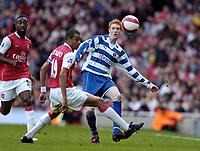 Photo: Olly Greenwood.<br />Arsenal v Reading. The Barclays Premiership. 03/03/2007. Reading's Dave Kitson and Arsenal's Gilberto
