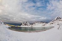 Haukland Beach, ner Uttakleiv, Lofoten Islands, Arctic, Northern Norway.