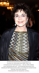 DR MIRIAM STOPPARD at a reception in London on 23rd February 2003.PHK 119
