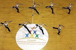 Lightnings, Germany at European Cheerleading Championship 2008, on July 5, 2008, in Arena Tivoli, Ljubljana, Slovenia. (Photo by Vid Ponikvar / Sportal Images).
