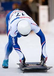 Gregory Saint-Genies of France competes during 1st Run of FIBT Bob & Skeleton World Cup Innsbruck-Igls race on January 23, 2009 in Igls, Innsbruck, Austria. (Photo by Vid Ponikvar / Sportida)