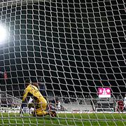 Besiktas's goal during their Turkish superleague soccer match Besiktas between istanbul BBSK at the BJK Inonu Stadium in Istanbul Turkey on Saturday, 19 January 2013. Photo by Aykut AKICI/TURKPIX