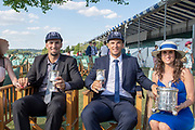 """Henley on Thames, United Kingdom, 8th July 2018, Sunday, View,  """"Fifth day"""", of the annual,  """"Henley Royal Regatta"""", Henley Reach, River Thames, Thames Valley, England, © Peter SPURRIER, Prize Giving, The Silver Goblets & Nickalls' Challenge Cup - 2018<br /> Martin Sinkovic & Valent Sinkovic, Croatia"""
