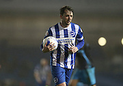 Brighton central midfielder, Dale Stephens (6) during the Sky Bet Championship match between Brighton and Hove Albion and Sheffield Wednesday at the American Express Community Stadium, Brighton and Hove, England on 8 March 2016.