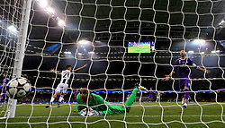 Real Madrid goalkeeper Keylor Navas (bottom) reacts after Juventus' Mario Mandzukic (not in picture) scores his side's first goal of the game during the UEFA Champions League Final at the National Stadium, Cardiff.