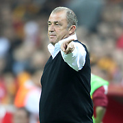 Galatasaray's Head Coach Fatih Terim during their Turkish Super League soccer match Galatasaray between Eskisehirspor at the TT Arena at Seyrantepe in Istanbul Turkey on Saturday, 06 October 2012. Photo by TURKPIX