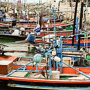 THA/Koh Samui/20160804 - Vakantie Thailand 2016 Koh Samui, Thaise bootjes, Longtail boat, vissersboot