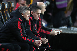 Manchester United interim manager Ole Gunnar Solskjaer during the FA Cup quarter final match at Molineux, Wolverhampton.
