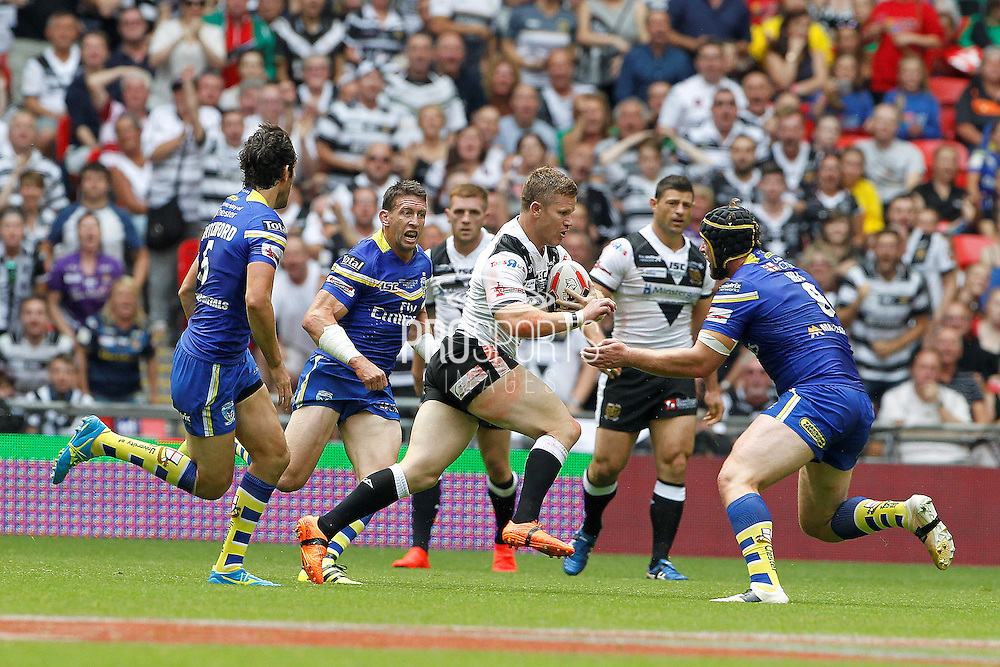 Hull's Steve Michaels on the run during the Challenge Cup Final 2016 match between Warrington Wolves and Hull FC at Wembley Stadium, London, England on 27 August 2016. Photo by Craig Galloway.