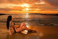 Melissa Laguna Beach sunset swimsuit