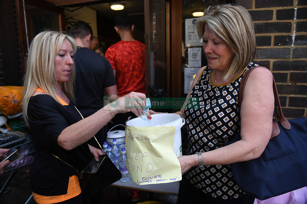 A relief fund set up by local residents for those caught up in a fire that engulfed the 24-storey Grenfell Tower in west London.