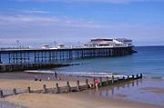 AMHK1C Cromer pier and beach Norfolk England