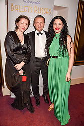 Left to right, Valeri Dapiter, Mark Ivassilevitch and Olga Balakleets at the Russian Ballet Icons Gala, The London Coliseum, St.Martin's Lane, London,  England. 12 March 2017.